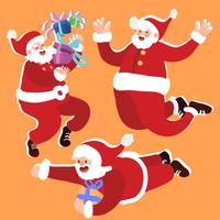 set di illustrazione di Babbo Natale vettore