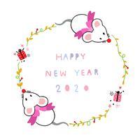cornice di felice anno nuovo