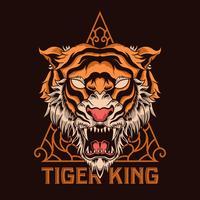 illustrazione della testa della tigre