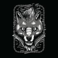 Swag animale bianco e nero illustrazione design tshirt