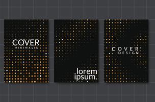Set di design di sfondo elegante. Sfumature colorate, dorato, carta, sfondo, copertina, vettore Eps10. Texture nera e dorata