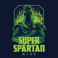 spartano illustrazione vettoriale tshirt design