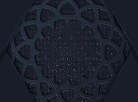 Sfondo astratto scuro con strati di sovrapposizione neri vettore