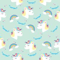 Testa di unicorno con arcobaleni in color pastello vettore