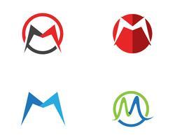 Lettera M. Logo Business Template Vector