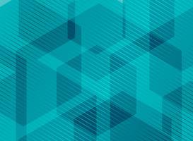 Esagoni geometrici astratti blu turchese con linee a strisce
