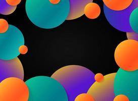 Sfere colorate su sfondo nero. illustrazione vettoriale eps10
