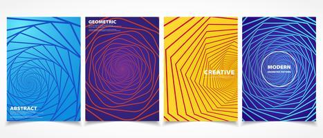 Forme geometriche e design colorato con motivi minimal. vettore eps10