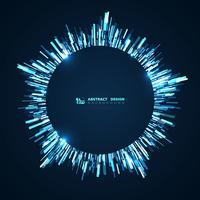 Linea blu tech futuristico cerchio sfondo vettore