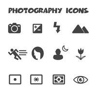 simbolo delle icone di fotografia vettore