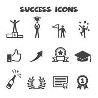 simbolo delle icone di successo vettore