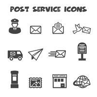 icone di servizio postale vettore