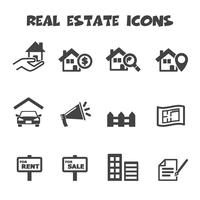 icone immobiliari vettore