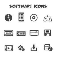 simbolo delle icone del software vettore