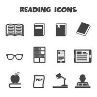 simbolo delle icone di lettura