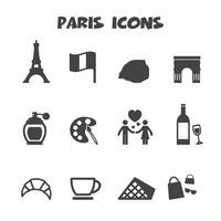 simbolo delle icone di Parigi vettore