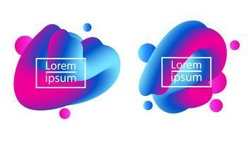 Modello di bolla di bolla fluido gradiente luminoso vettore