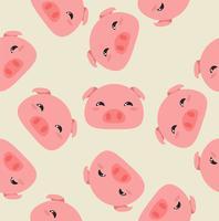Modello testa di maiali vettore