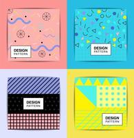 set di eleganti motivi geometrici