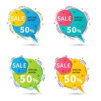 impostare banner di vendita come bolle di discorso