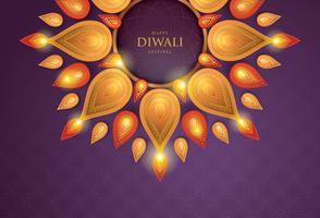 Carta Diwali Purple 02 vettore