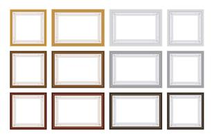 Set di Frame Vector con spazio vuoto per la tua foto o testo