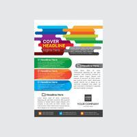 Design colorato volantino aziendale vettore