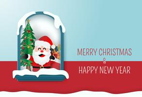 Carta di buon Natale e felice anno nuovo