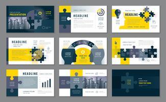 Modelli di presentazione astratta, elementi di infografica modello set di schemi