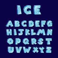 Alfabeto ghiacciato vettoriale