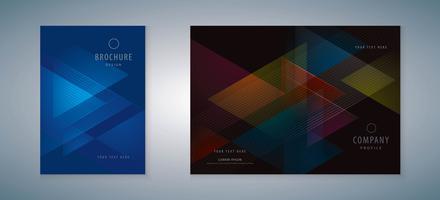Set copertina libro vettore