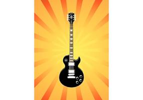 Illustrazione di chitarra elettrica vettore