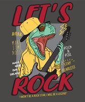 Illustrazione di dinosauro bilanciere vettore