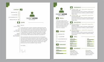CV Riprendi Cover Pulire Colore Verde