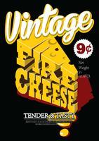 Poster vintage di formaggi