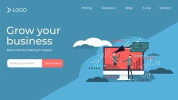 Progettazione modello di pagina di destinazione marketing di affiliazione