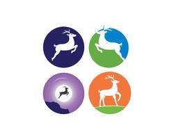 modello di disegno dell'illustrazione della renna