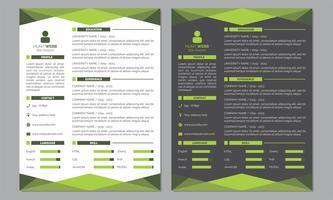Curriculum Vitae Riprendi Modello di colore verde chiaro e pulito
