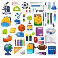 Kit di scuola, set di grafica vettoriale