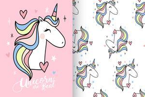 Gli unicorni sono un vero modello di unicorno disegnato a mano