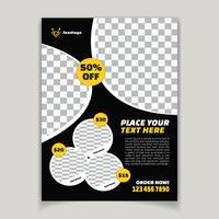 Poster di menu cibo ristorante moderno vettore