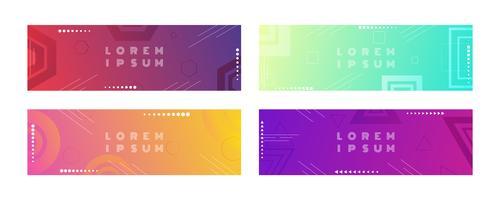 Bandiera geometrica stile di forma colorata con sfumatura di colore