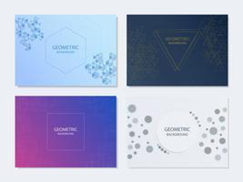 Set di poster geometrici astratti vettore
