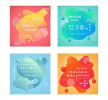 Set di poster di vendita fluidi