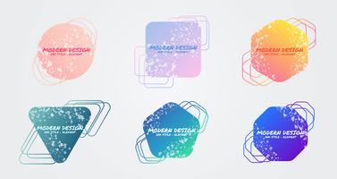 Set di elementi geometrici colorati