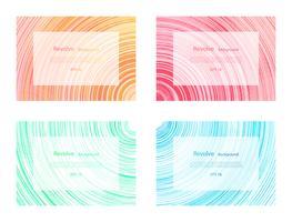 Girare sfondo set di banner liscio colorato ricciolo