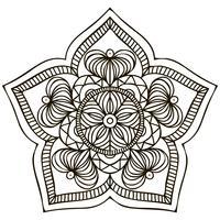Mandala. Ornamento floreale vettore