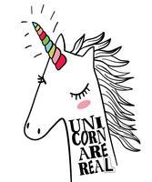 Gli unicorni sono reali vettore