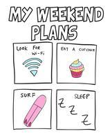 I miei piani per il weekend vettore