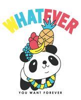 Qualunque cosa tu voglia Panda vettore